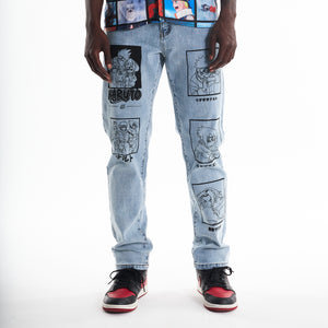 NARUTO TEAM 7 DENIM (LIGHT WASH)