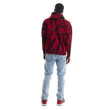 Load image into Gallery viewer, NARUTO ITACHI CHENILLE HOODIE (RED TIE DYE)