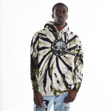Load image into Gallery viewer, NARUTO KAKASHI CHENILLE HOODIE (OLIVE TIE DYE)