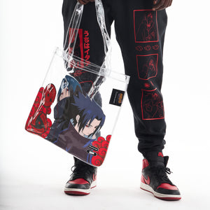 NARUTO UCHIHA BROTHERS TOTE BAG (CLEAR)