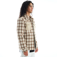 Load image into Gallery viewer, FLEECE FLANNEL JACKET (BROWN)