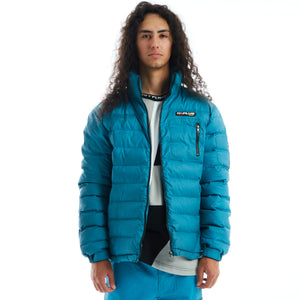 H+PLUS THERMO REACTIVE  PUFFER JACKET (AQUA)