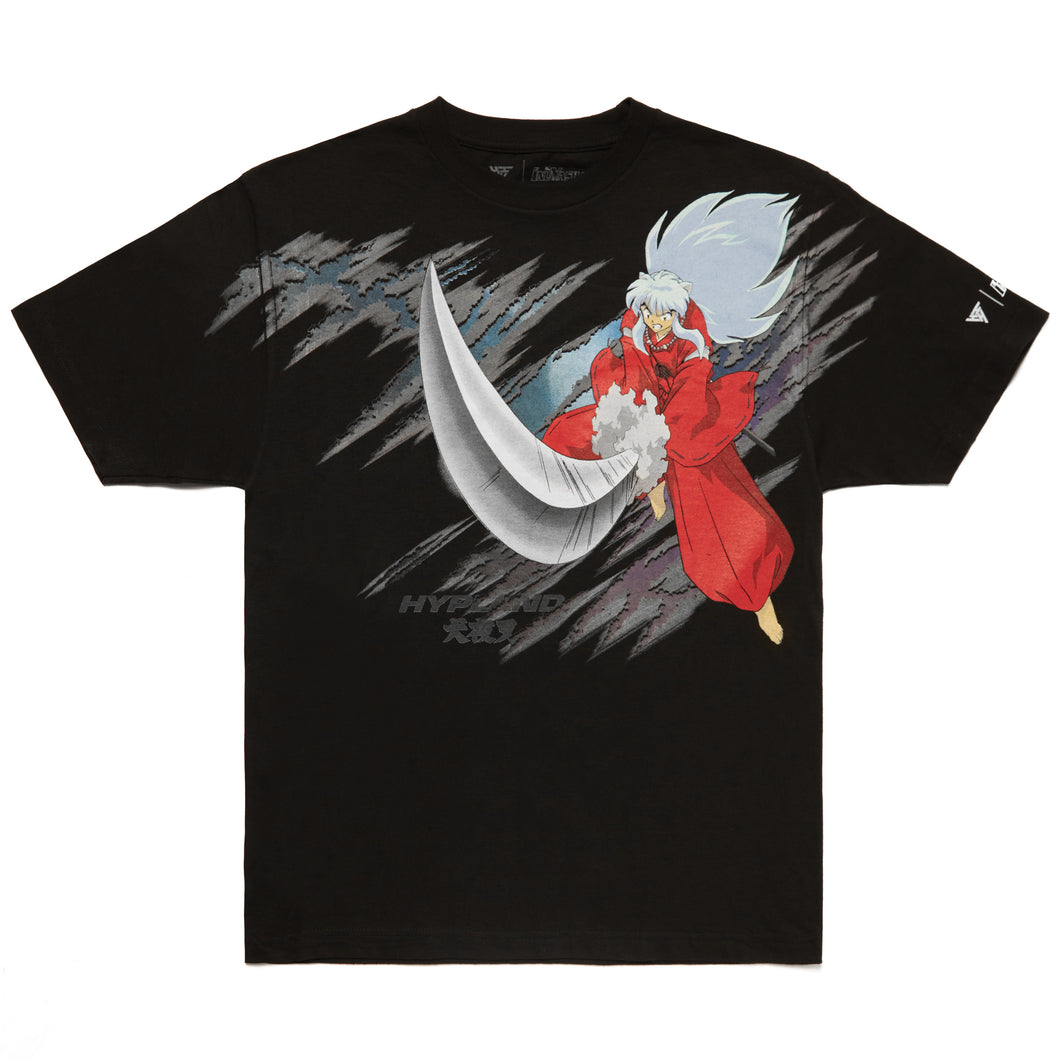 INUYASHA FULL BODY CUT SHIRT (BLACK)