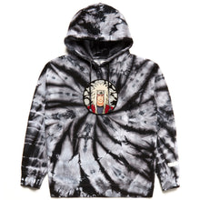 Load image into Gallery viewer, NARUTO JIRAIYA CHENILLE HOODIE (GREY TIE DYE)