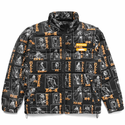 BLEACH SOUL SOCIETY PUFFER JACKET (BLACK)