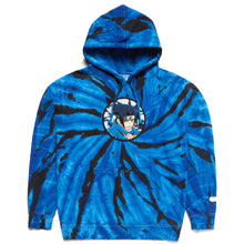 Load image into Gallery viewer, NARUTO SASUKE CHENILLE HOODIE (BLUE TIE DYE)