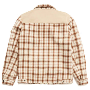 FLEECE FLANNEL JACKET (BROWN)
