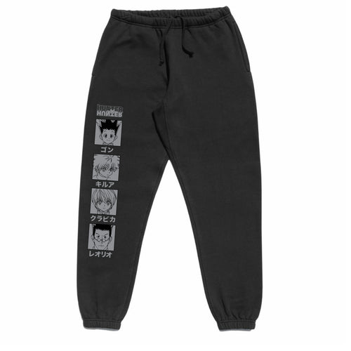 HXH CHARACTER SWEATPANTS (BLACK)