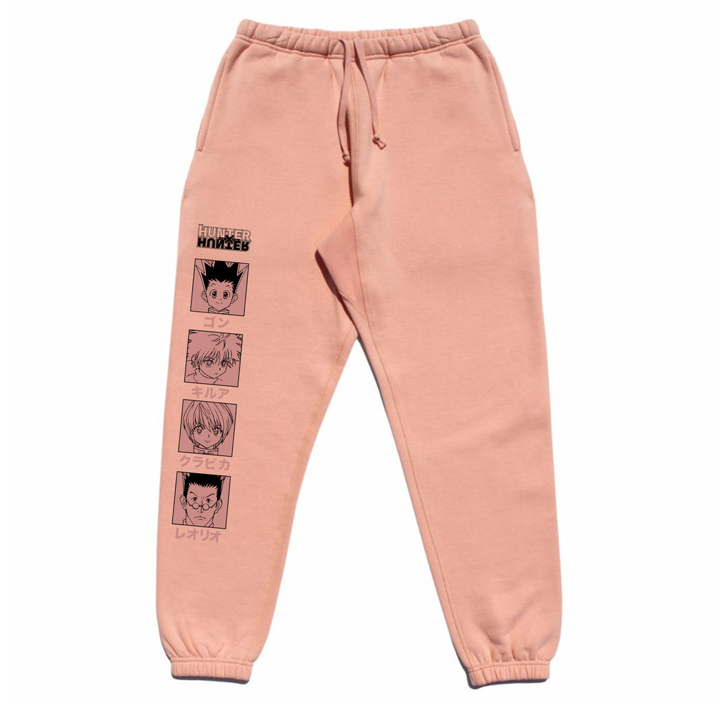 HXH CHARACTER SWEATPANTS (SALMON)