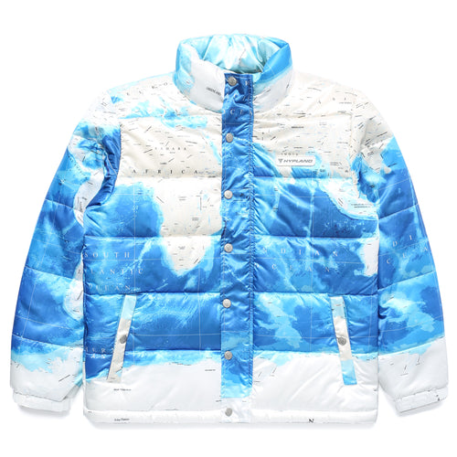 ARCTIC MAP PUFFER JACKET (WHITE)