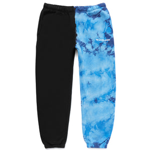 SPLIT CRYSTAL LOGO SWEATPANTS (BLUE/BLACK)
