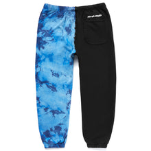 Load image into Gallery viewer, SPLIT CRYSTAL LOGO SWEATPANTS (BLUE/BLACK)