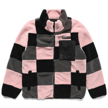 Load image into Gallery viewer, PATCHWORK SHERPA FLEECE JACKET (PINK)