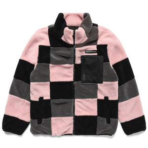 PATCHWORK SHERPA FLEECE JACKET (PINK)