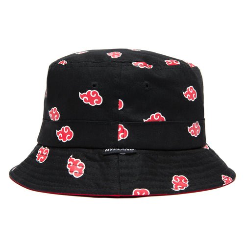 NARUTO AKATSUKI BUCKET HAT (BLACK)