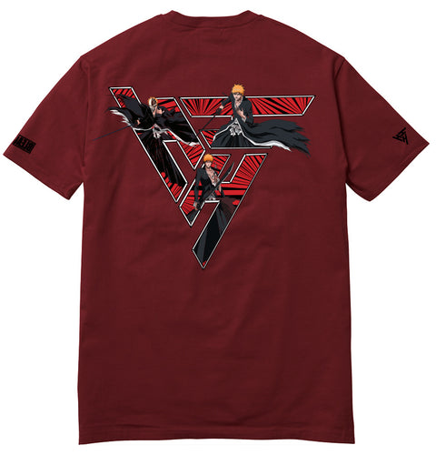 BLEACH ICHIGO PHASES SHIRT (MAROON)