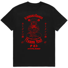 Load image into Gallery viewer, NARUTO ICHIRAKU RAMEN SHIRT (BLACK)
