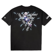 Load image into Gallery viewer, HXH KILLUA BREAK THROUGH SHIRT (BLACK)
