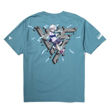 Load image into Gallery viewer, HXH KILLUA BREAK THROUGH SHIRT (SLATE)
