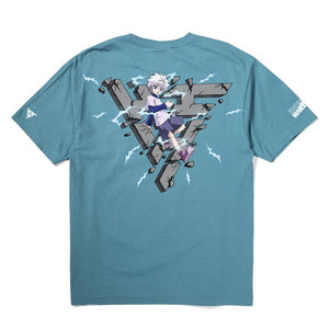 HXH KILLUA BREAK THROUGH SHIRT (SLATE)