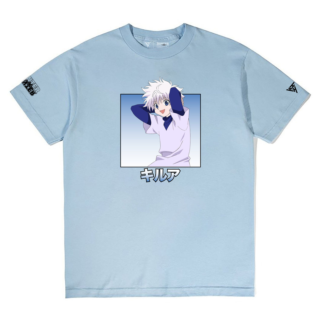 HXH KILLUA INDIVIDUAL SHIRT (POWDER BLUE)