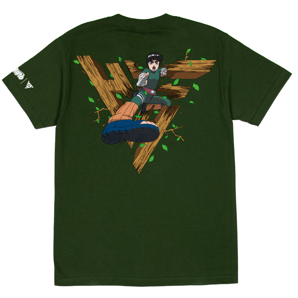 NARUTO ROCK LEE BREAK THROUGH SHIRT (OLIVE)