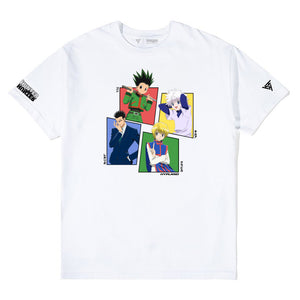 HXH MAIN FOUR CHARACTER SHIRT (WHITE)