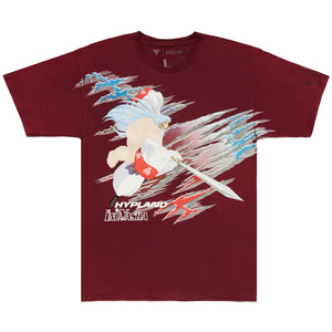 INUYASHA SESSHOMARU FULL BODY CUT SHIRT (MAROON)
