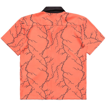 NARUTO 9 TAILS THUNDER BUTTON UP SHIRT (ORANGE)