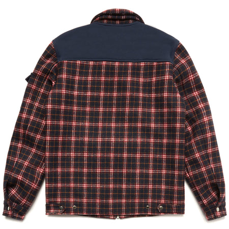 FLEECE FLANNEL JACKET (NAVY)