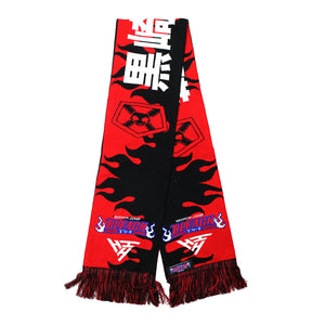 BLEACH ICHIGO REAPER SCARF (BLACK/RED)
