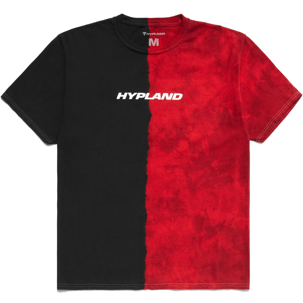 SPLIT CRYSTAL LOGO SHIRT (RED/BLACK)