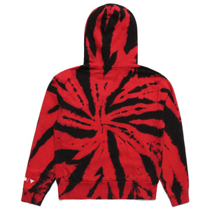 NARUTO ITACHI CHENILLE HOODIE (RED TIE DYE)
