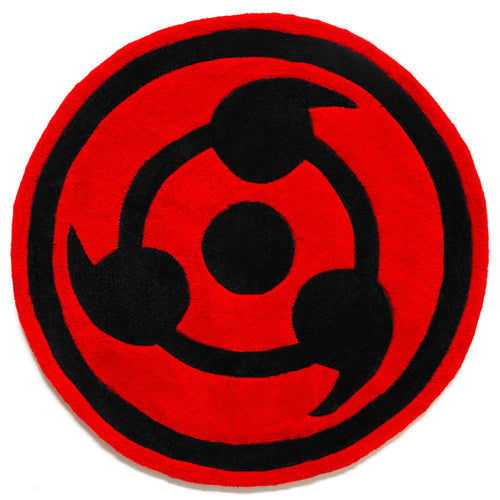 NARUTO TRUE SHARINGAN RUG (RED)
