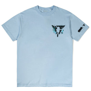 NARUTO SASUKE CHIDORI BREAK THROUGH SHIRT (LIGHT BLUE)