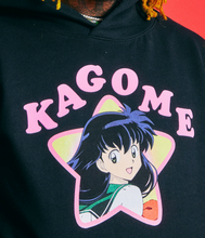 Load image into Gallery viewer, INUYASHA KAGOME FAN CLUB HOODIE (BLACK)