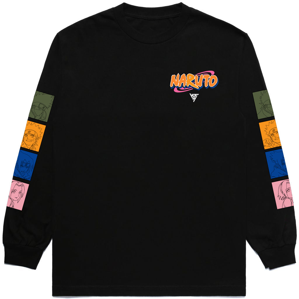 NARUTO TEAM 7 LONG SLEEVE SHIRT (BLACK)