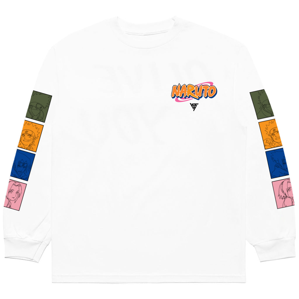 NARUTO TEAM 7 LONG SLEEVE SHIRT (WHITE)