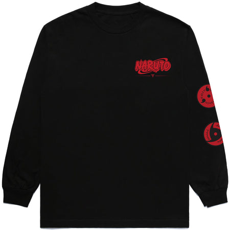 NARUTO UCHIHA BROTHERS LONG SLEEVE SHIRT (BLACK)