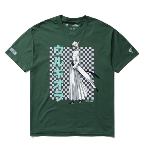 BLEACH ULQUIORRA GRID SHIRT (FOREST GREEN)