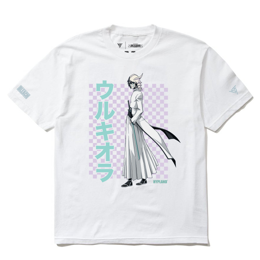 BLEACH ULQUIORRA GRID SHIRT (WHITE)