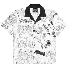 Load image into Gallery viewer, NARUTO ALL OVER PRINT BUTTON UP SHIRT (WHITE)