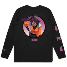 Load image into Gallery viewer, BLEACH YORUICHI LONG SLEEVE SHIRT (BLACK)