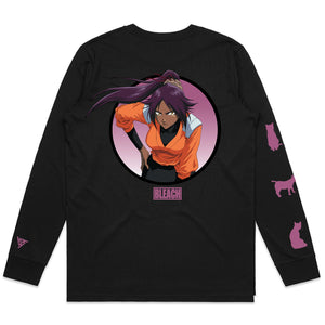 BLEACH YORUICHI LONG SLEEVE SHIRT (BLACK)