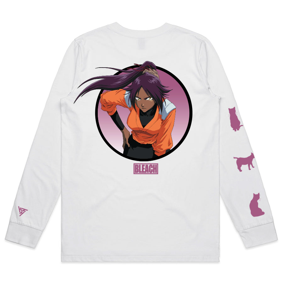 BLEACH YORUICHI LONG SLEEVE SHIRT (WHITE)