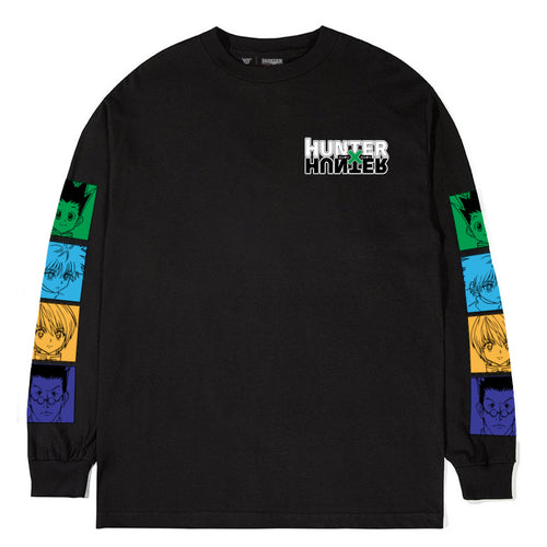 HXH CHARACTER LONG SLEEVE SHIRT (BLACK)