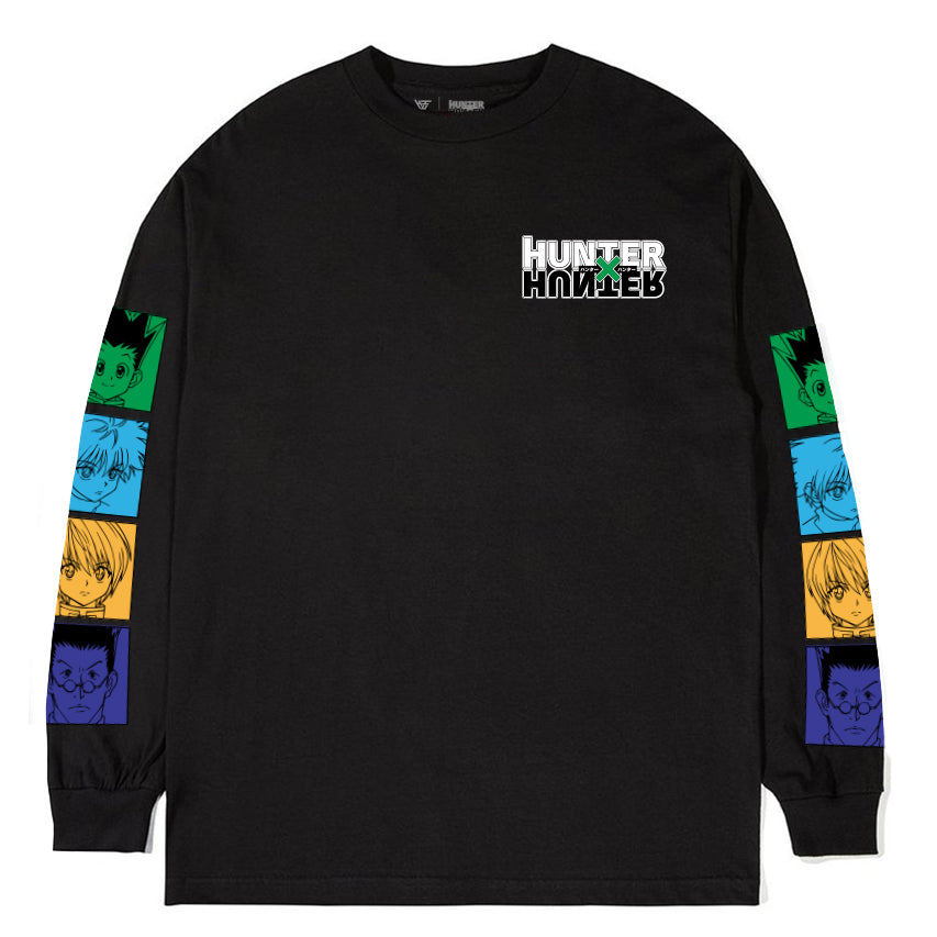 HXH MAIN FOUR LONG SLEEVE SHIRT (BLACK)