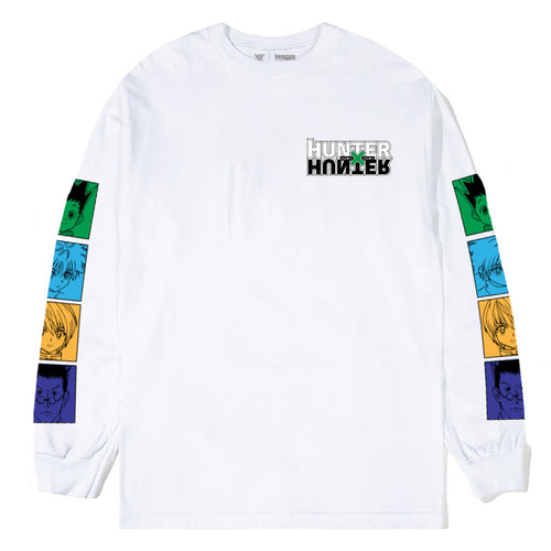 HXH CHARACTER LONG SLEEVE SHIRT (WHITE)