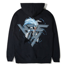 Load image into Gallery viewer, BLEACH GRIMMJOW BREAK THROUGH HOODIE (BLACK)