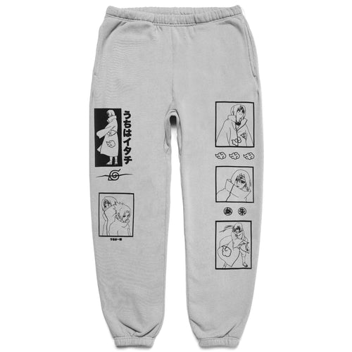 NARUTO ITACHI SWEAT PANTS (HEATHER GREY)